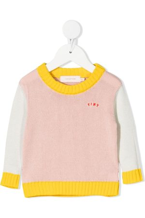 Tiny Cottons Baby Jumpers - Chunky knit colour-block jumper