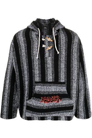PACCBET Men Sweatshirts - Rassvet-print stripe-woven hoodie