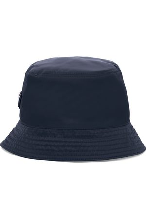 Prada Men Hats - Logo-plaque bucket hat