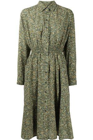 Kenzo Women Printed Dresses - Camouflage print long-sleeve shirt dress