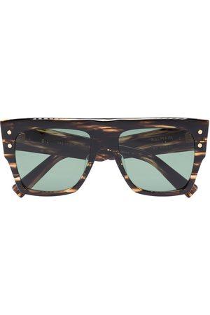 Balmain Tortoiseshell square-frame sunglasses