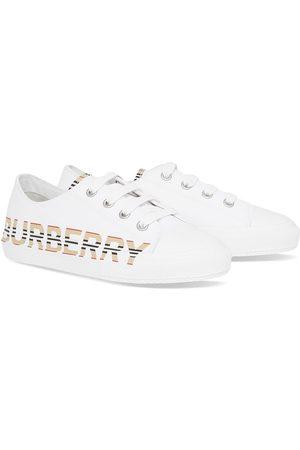Burberry Girls Sneakers - Icon Stripe logo low-top sneakers