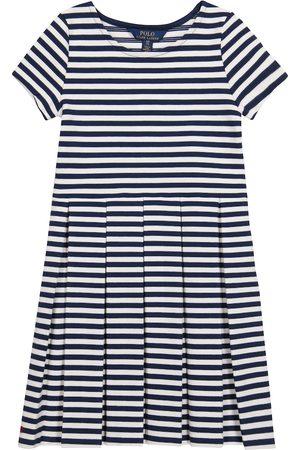 Ralph Lauren Girls Knitted Dresses - Striped cotton-blend knit dress