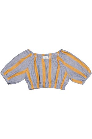 PAADE Sasha linen and cotton crop top
