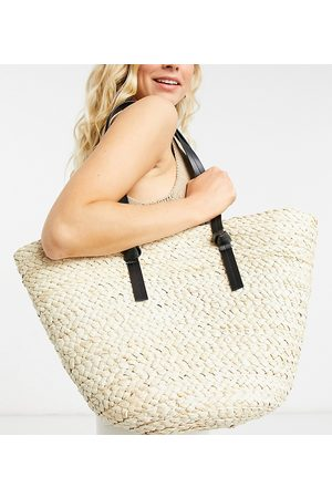 South Beach Straw tote in natural-Neutral