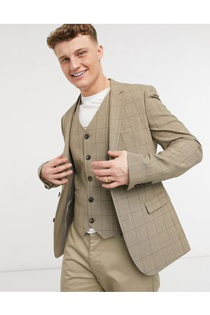 adidas Summer wedding range super skinny suit jacket in check