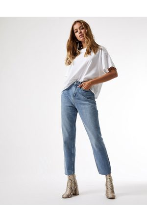 Miss Selfridge High waist slim leg jean in mid wash