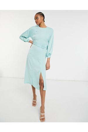 adidas Belted midi dress in mint