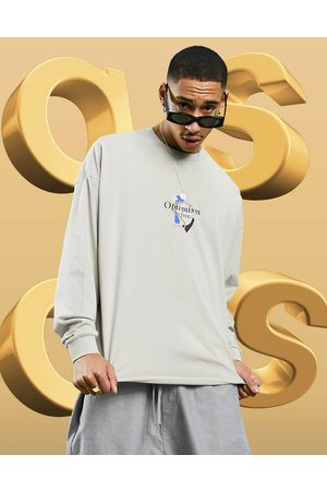 adidas Oversized long sleeve t-shirt in with front print