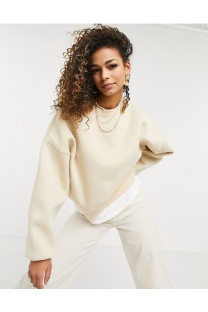 adidas Oversized sweatshirt with chunky rib in sand