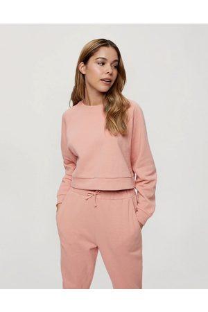 Miss Selfridge Crew neck sweatshirt in rose