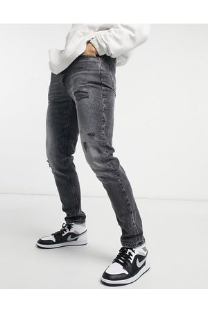 adidas Slim jeans with rips in washed