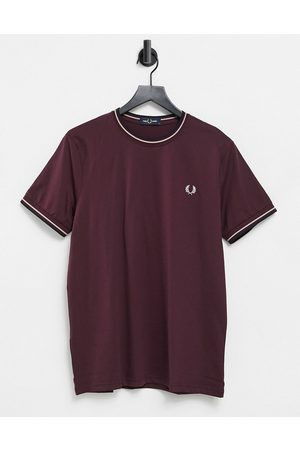 adidas Twin tipped t-shirt in burgundy
