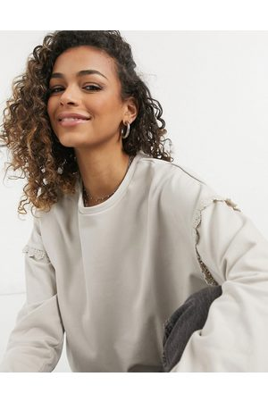 JDY Sweatshirt with frill detail in
