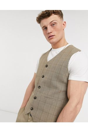 adidas Summer wedding range super skinny suit waistcoat in check