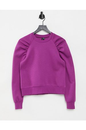 adidas Sweater with ruched shoulder detail in