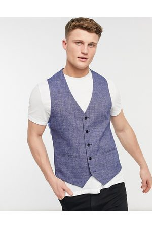 adidas Checked slim fit waistcoat in and black
