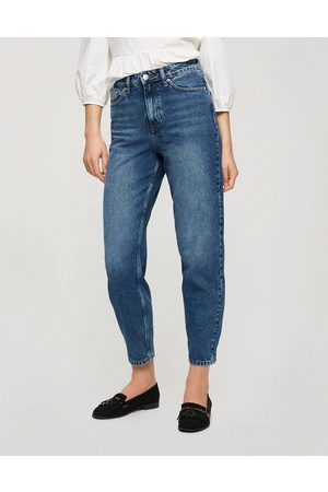 Miss Selfridge Mom high waist tapered jeans in dark wash