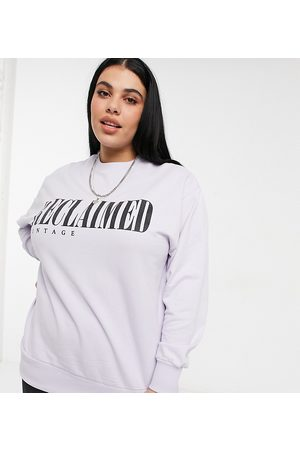 Reclaimed Vintage Women Sweatshirts - Inspired plus sweat in lilac with logo print