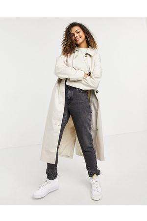 adidas Longline trench coat in stone