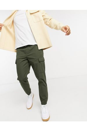 SELECTED Cargo trousers in khaki