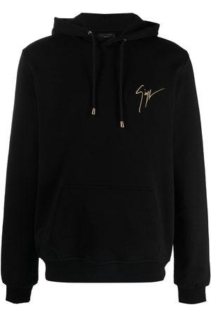 adidas Men Sweatshirts - Logo-print drawstring hoodie