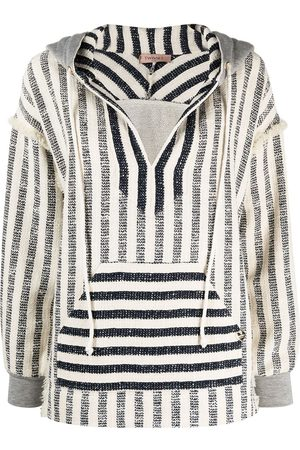 adidas Striped oversized-fit knitted hoodie