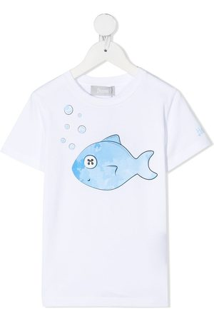adidas Fish-motif short-sleeve T-shirt