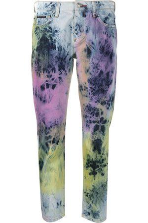 adidas Women Boyfriend - Boyfriend fit bleached tie-dye jeans