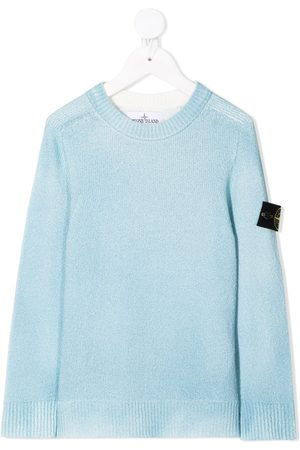 adidas Boys Jumpers - Logo patch knitted jumper