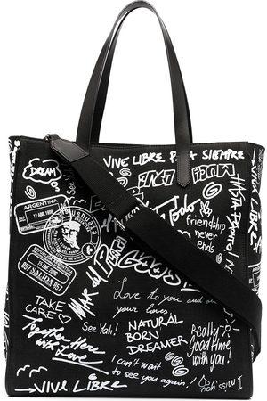 adidas Graffiti-print canvas tote bag