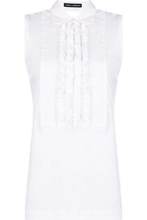 adidas 1990s ruffle-detail sleeveless top