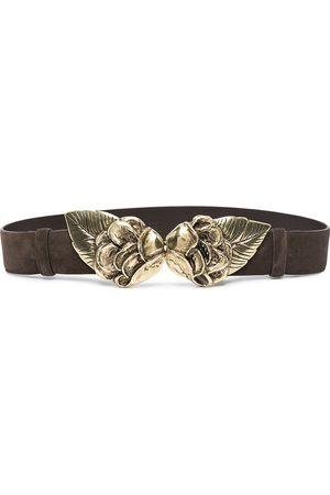 adidas Women Belts - Leaf-plaque suede belt