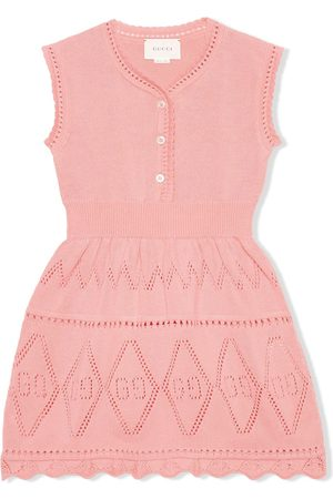 adidas GG perforated cotton dress