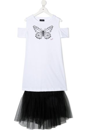 adidas Girls Casual Dresses - Butterfly tulle T-shirt dress