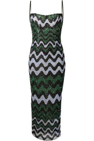 adidas Callum sequin-embellished gown