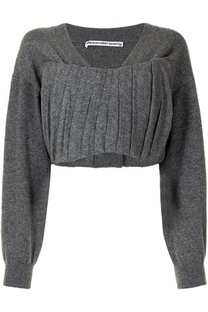 Alexander Wang Women Crop Tops - Gathered front cropped top