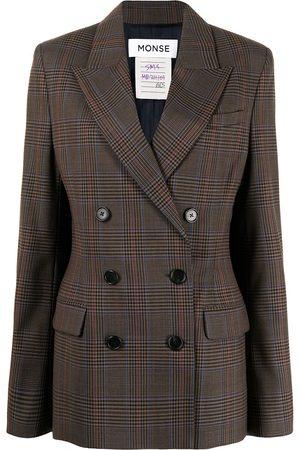 adidas Women Blazers - Prince of Wales plaid cape blazer