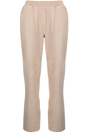 adidas Women Leather Pants - Elasticated leather trousers