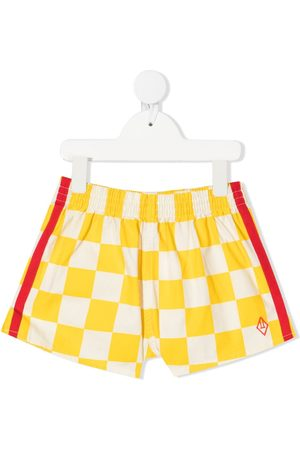 adidas Boys Shorts - Check-print stripe-detail shorts