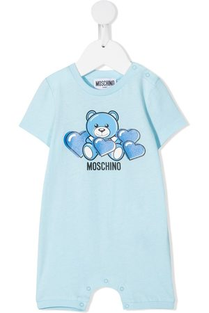adidas Baby Rompers - Bear-motif cotton romper