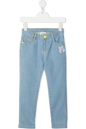 adidas Girls Skinny - Embroidered bunny skinny jeans