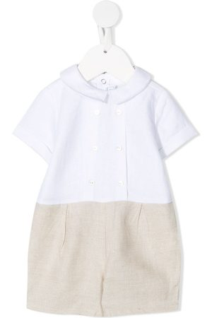 adidas Baby Bodysuits - Two-tone buttoned shorties
