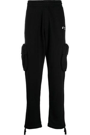 adidas Men Cargo Pants - Logo-print cargo track pants