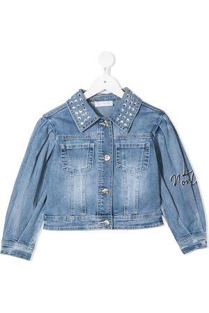 adidas Girls Denim Jackets - Embroidered Daisy denim jacket