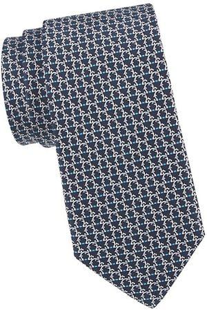 Salvatore Ferragamo Gancini Woven Silk Tie