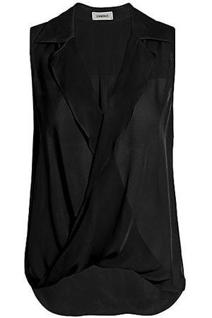 L'Agence Freja Draped Silk Blouse