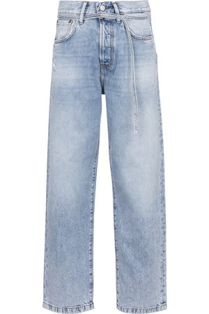 Acne Studios Women High Waisted - High-rise cropped jeans