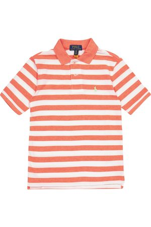 Ralph Lauren Striped cotton piqué polo shirt