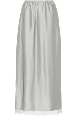 MM6 MAISON MARGIELA Lace-trimmed satin maxi skirt